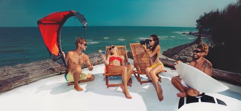 Partido na praia foto de stock royalty free