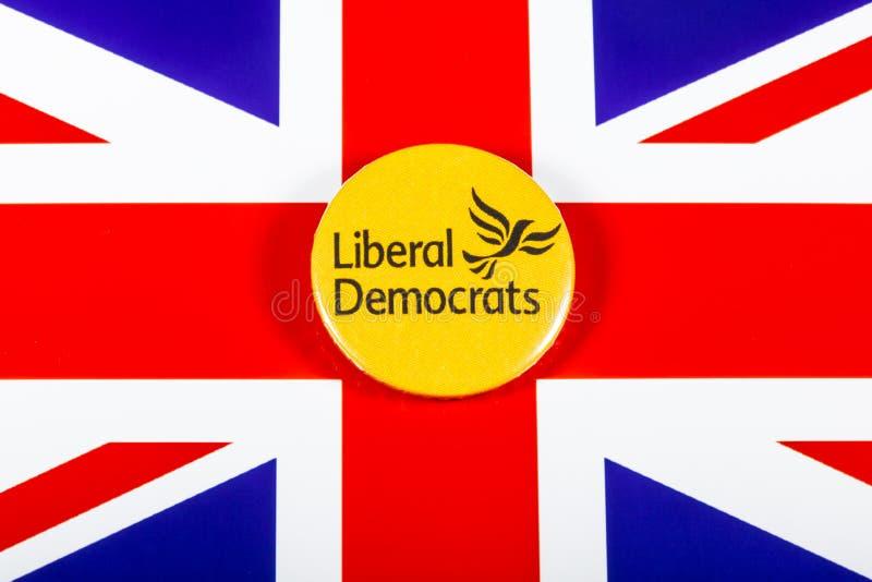 Partido político liberal de Democratas imagens de stock