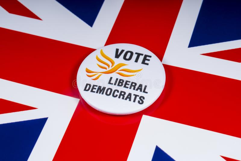 Partido político liberal de Democratas no Reino Unido fotografia de stock