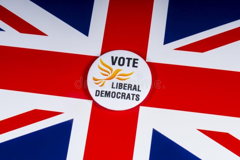 Partido político liberal de Democratas no Reino Unido imagens de stock royalty free