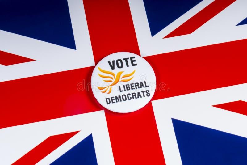 Partido político liberal de Democratas no Reino Unido foto de stock
