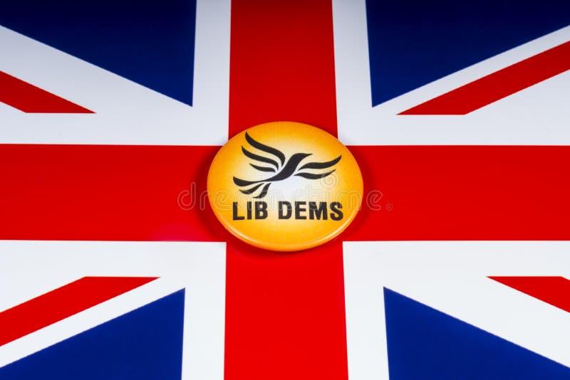 Partido político liberal de Democratas no Reino Unido imagem de stock