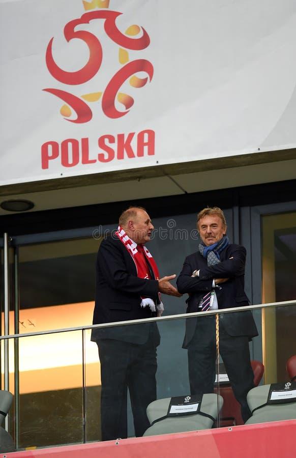 Partido Polonia - Kazajistán de la calificación de Rusia del mundial 2018 imagenes de archivo