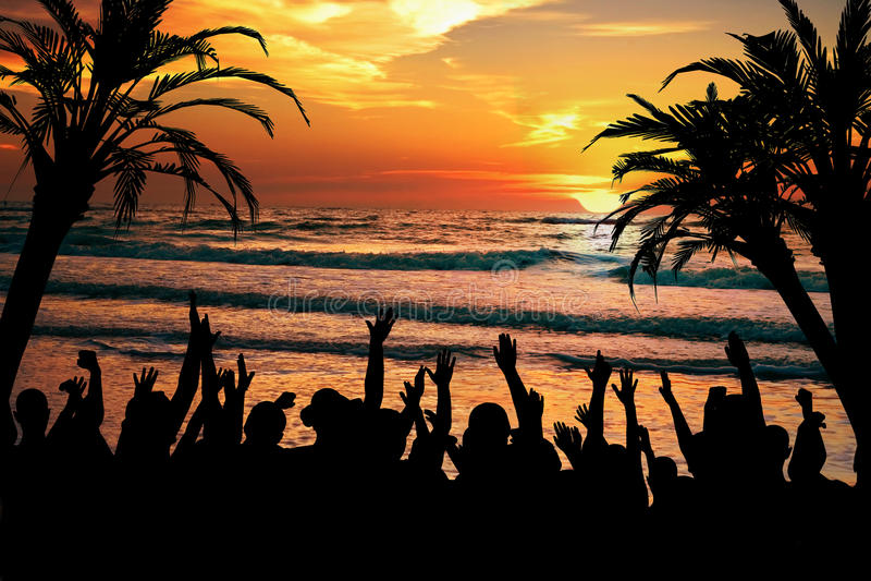 Partido tropical da praia imagem de stock royalty free
