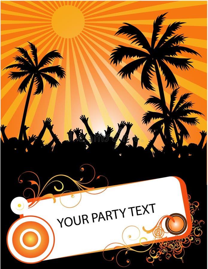 Partido tropical do verão ilustração do vetor