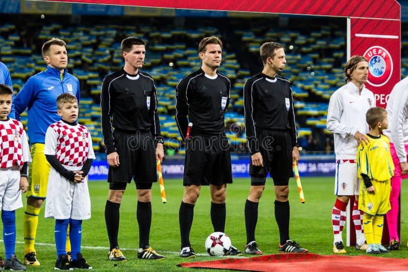 Partido Ucrania - Croacia del mundial 2018 de la FIFA fotos de archivo libres de regalías