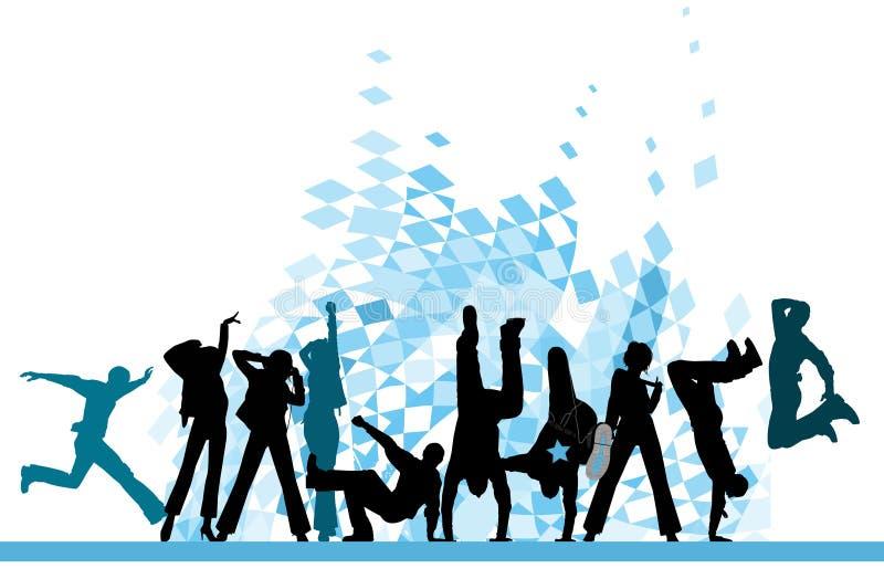 Partido urbano da cidade ilustração stock