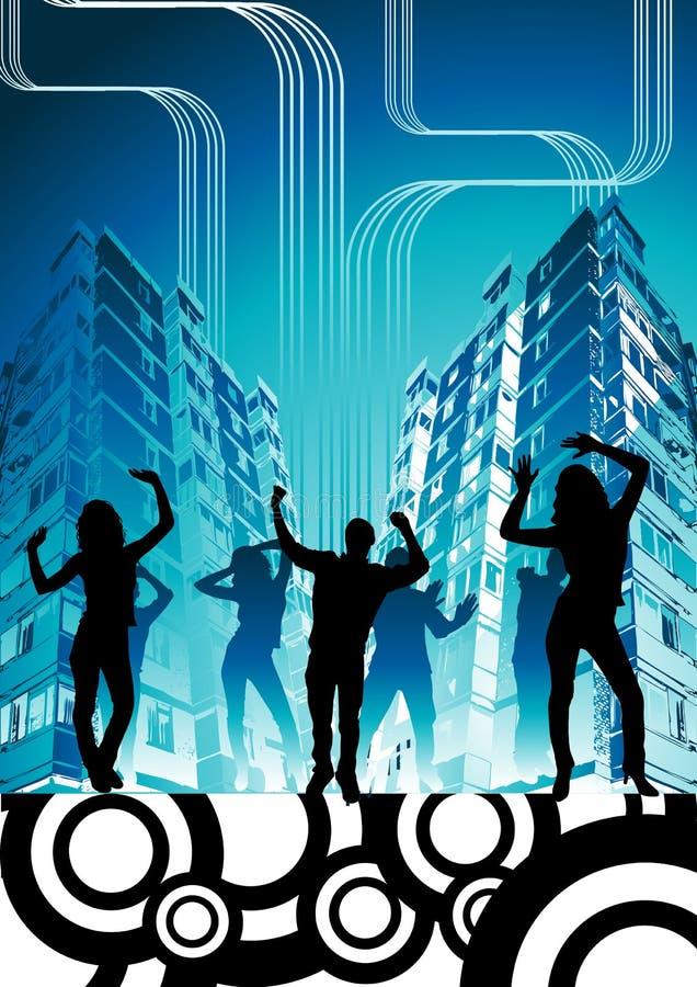 Partido urbano de la ciudad ilustración del vector