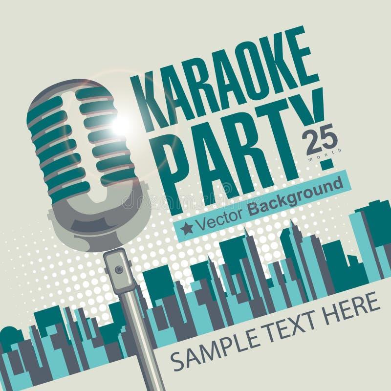 Partidos do karaoke ilustração do vetor