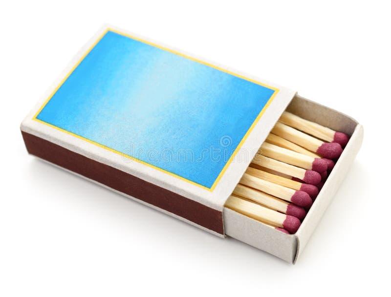 Partidos en una caja de cerillas foto de archivo