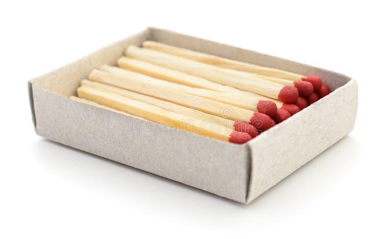 Partidos en una caja de cerillas fotografía de archivo