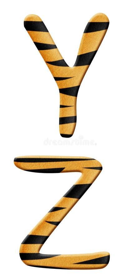 Partie 7 d'alphabet de tigre illustration libre de droits