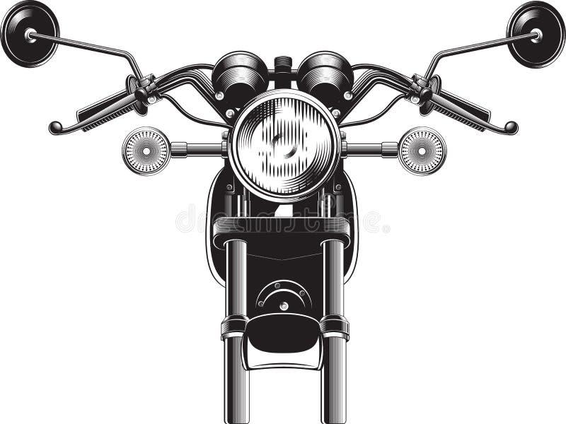 Partie antérieure de moto de couperet illustration de vecteur