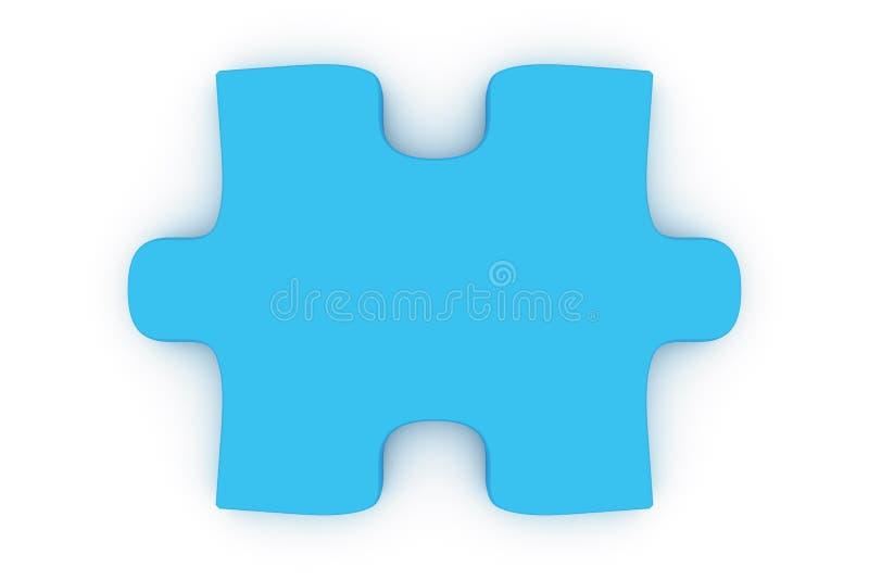 Partie bleue de puzzle illustration stock