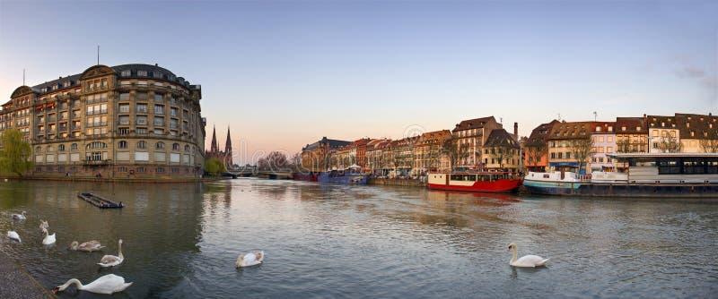 Partie centrale de ville de Strasbourg, France image libre de droits