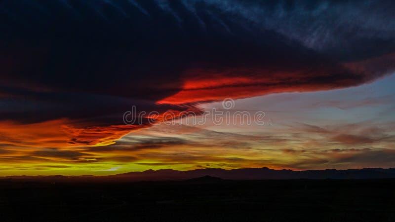 Partie cinq de coucher du soleil photo stock