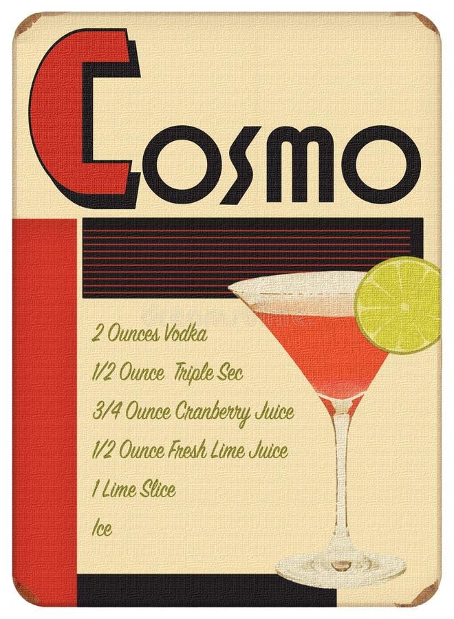 Partie d'Art Deco Sytle Vintage Retro d'affiche de Cosmo photos stock
