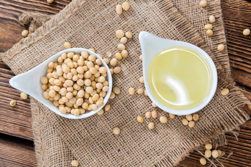 Partie d'huile de soja photos libres de droits