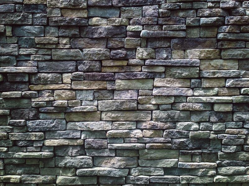 Partie d'un mur d'Empiler-pierre photo stock