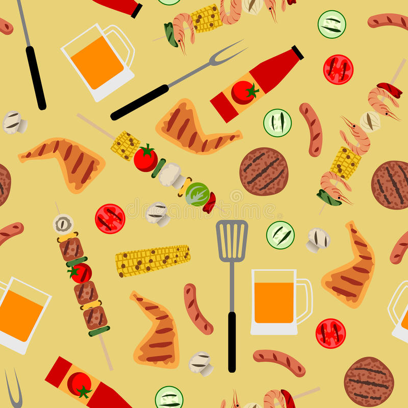 Partie de barbecue illustration stock