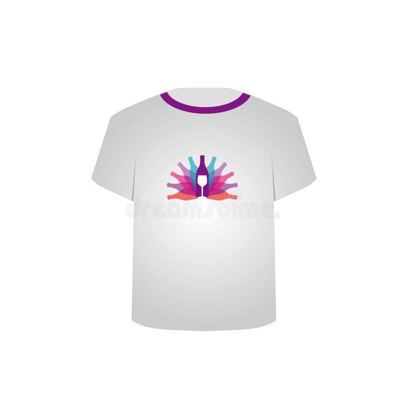 Partie de chemise de T illustration libre de droits