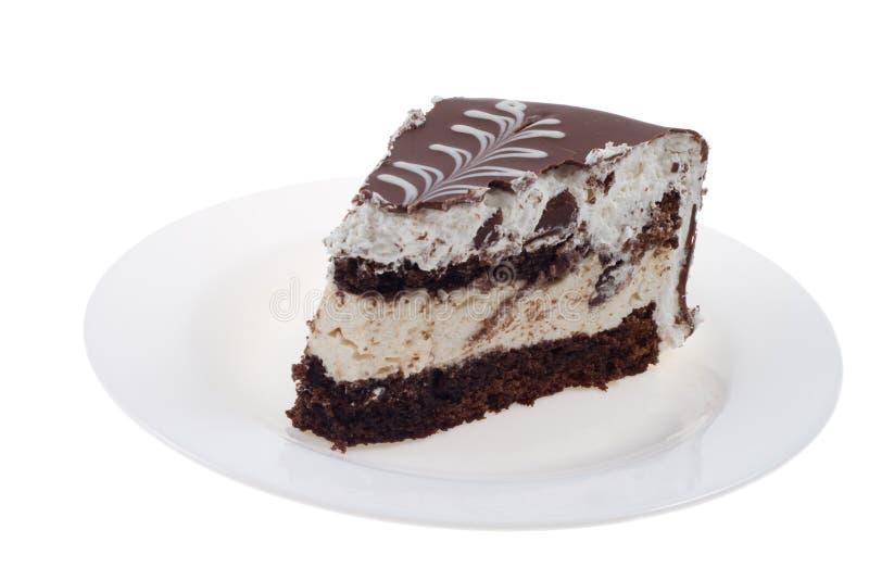 Partie de chocolat de gâteau photos stock