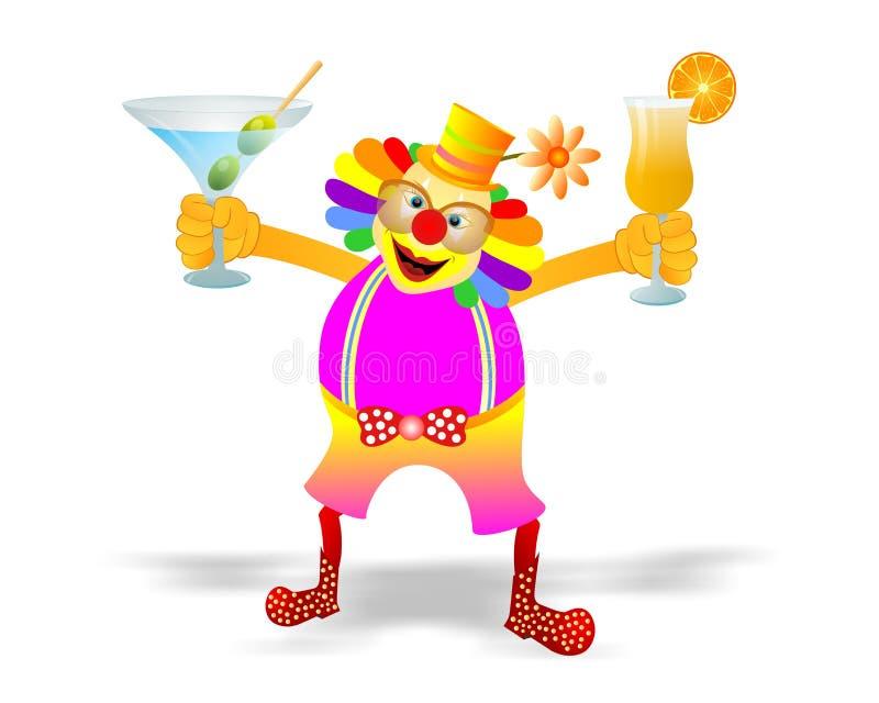 Partie de clown illustration libre de droits