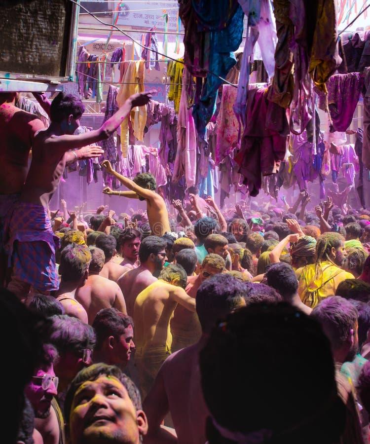 Partie de festival de Holi photographie stock
