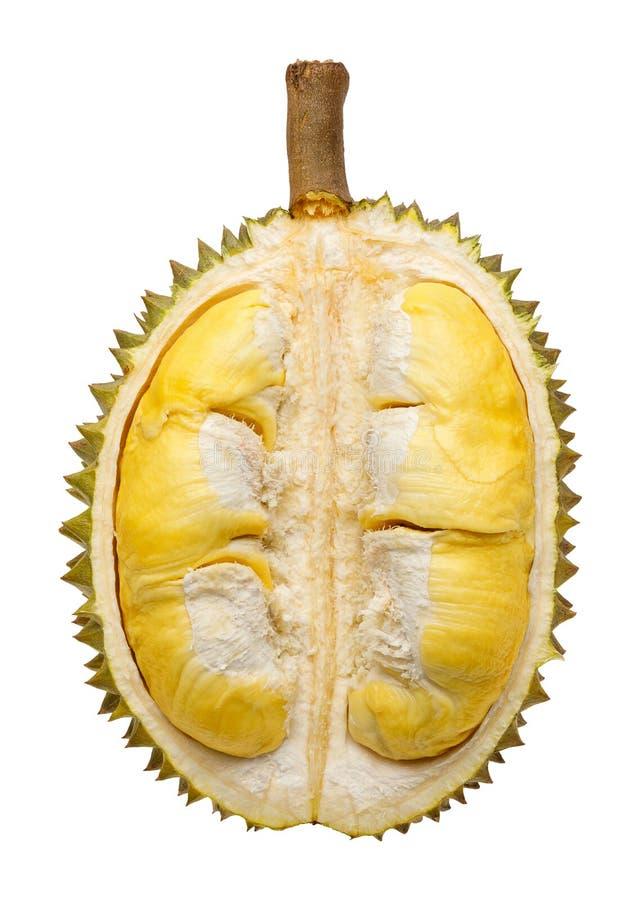 Partie de fruit de durian d'isolement photo stock