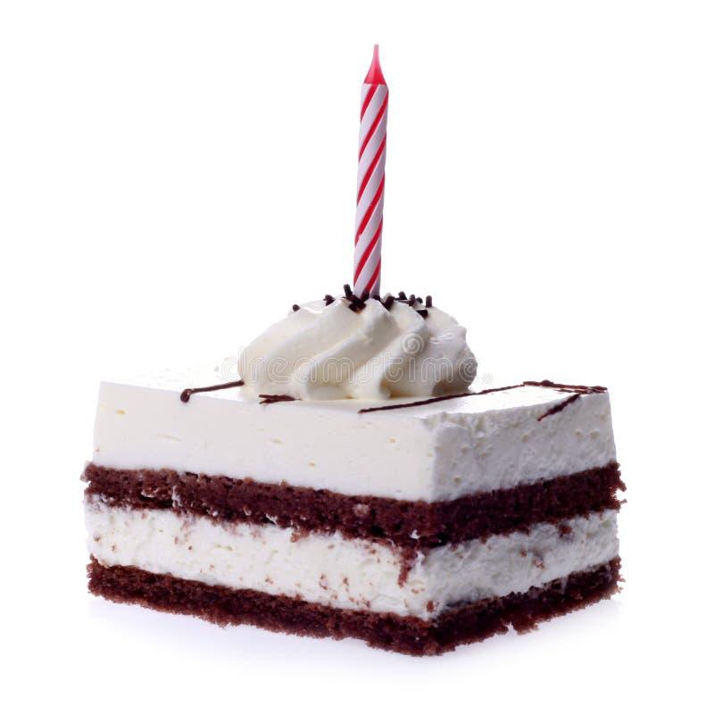 Partie de gâteau photo stock