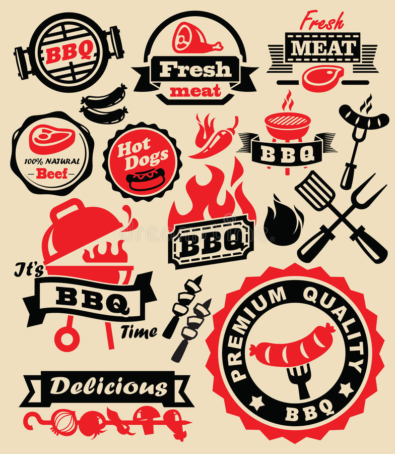 Partie de gril de barbecue illustration stock