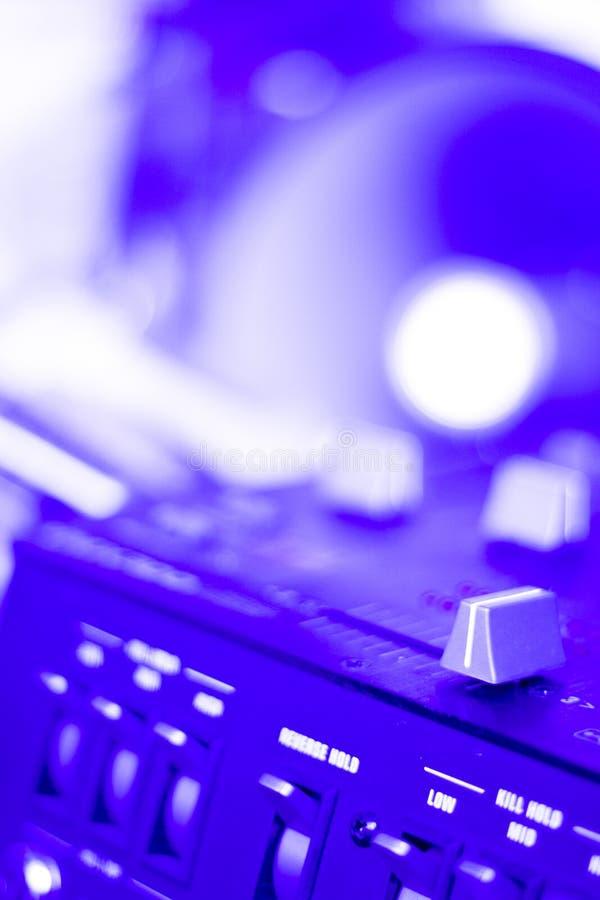 Partie de mélange du DJ de bureau de disc-jockey photo libre de droits