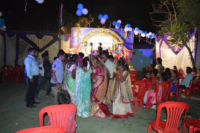 partie de mariage dans l'Inde image stock
