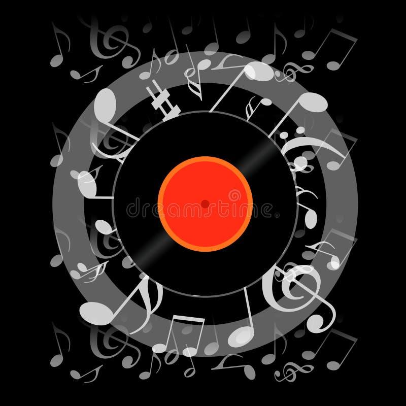 Partie de nuit de musique illustration libre de droits