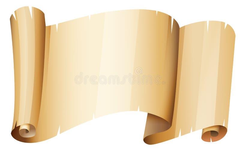 Partie de papier brun illustration libre de droits