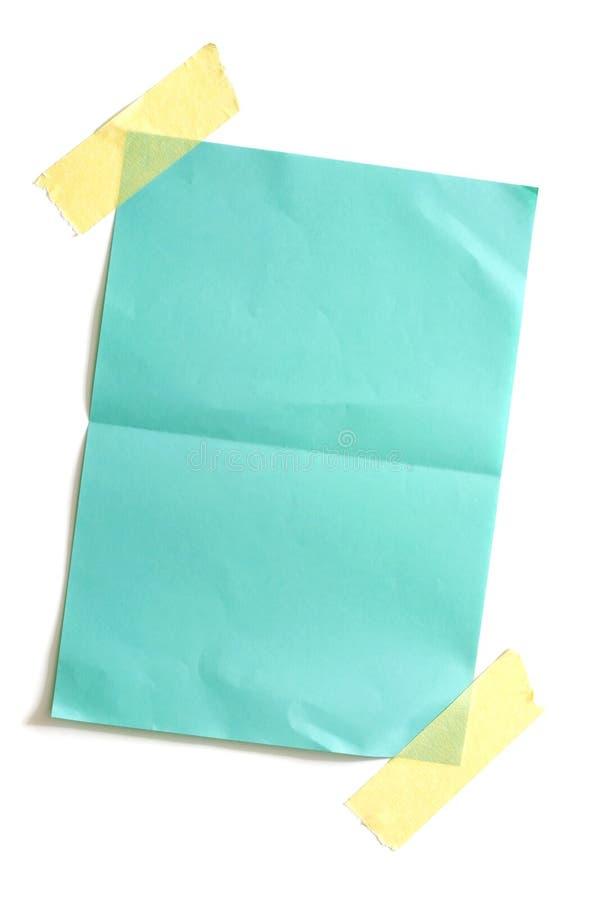 Partie de papier coloré blanc photo stock