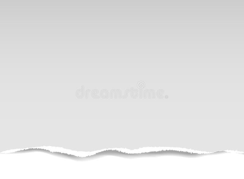 Partie de papier déchirée illustration stock