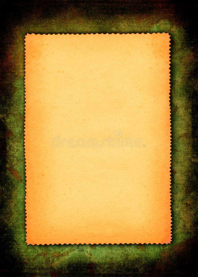 Partie de papier jauni photo stock