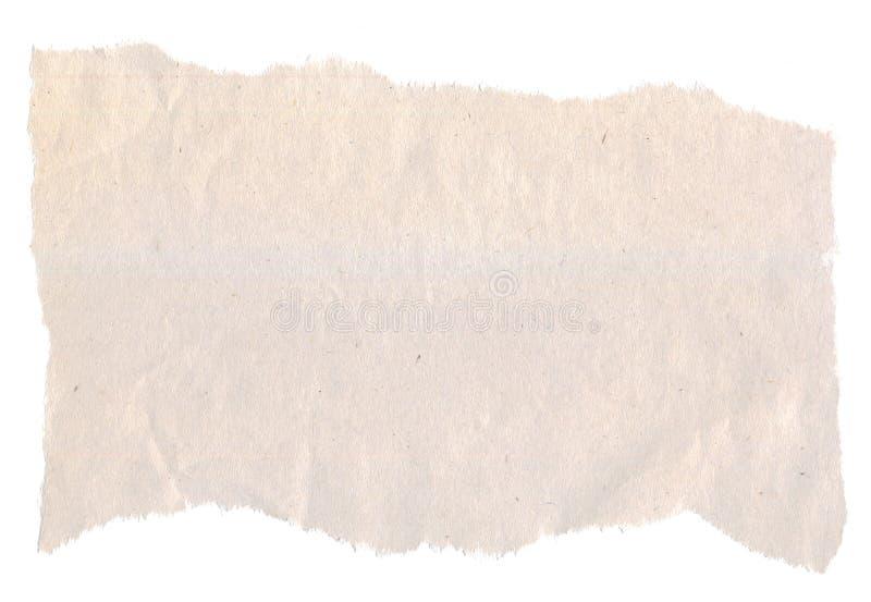 Partie de papier journal irrégulièrement déchiré photo stock