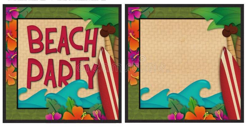 partie de plage illustration de vecteur