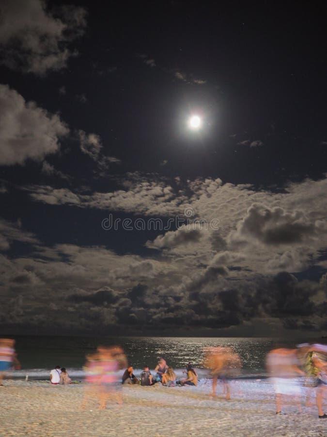 Partie de pleine lune photos stock