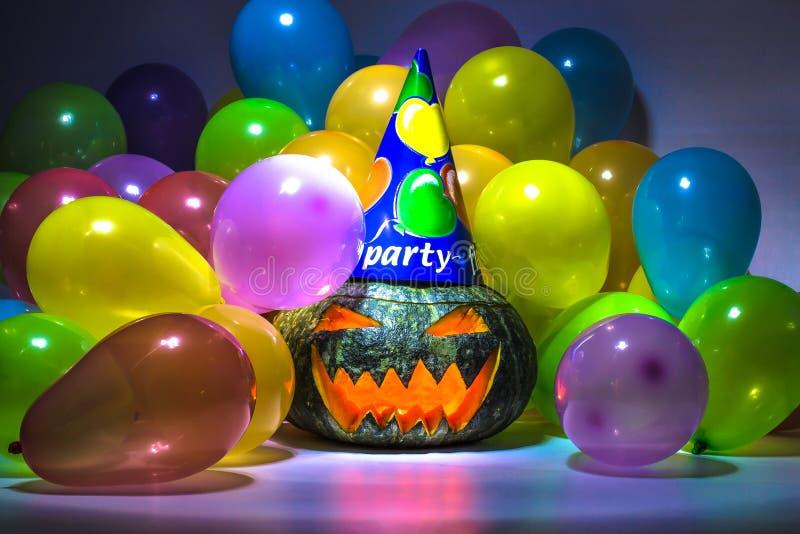 Partie de potiron de Halloween images stock