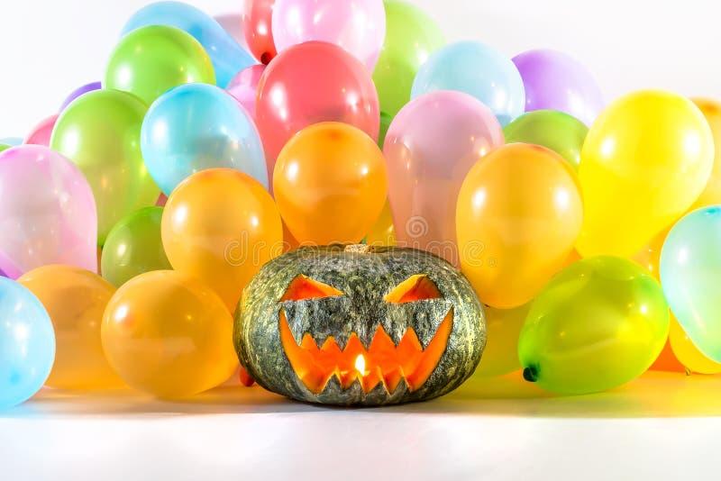 Partie de potiron de Halloween photos stock