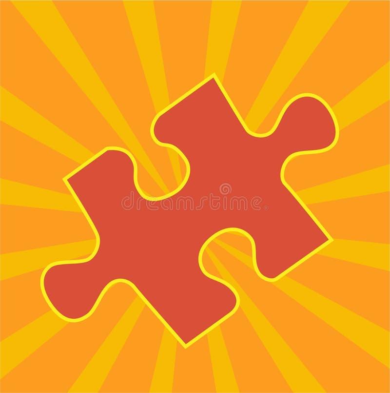 Partie de puzzle denteux illustration de vecteur