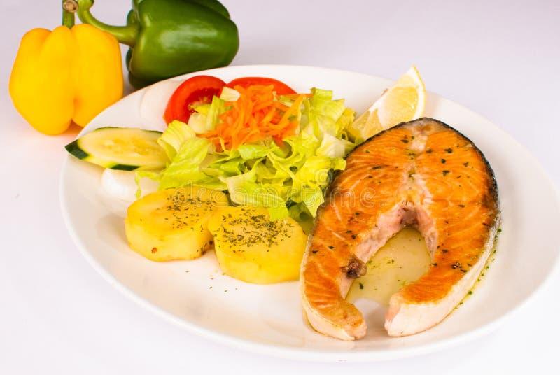 Partie de saumons image libre de droits