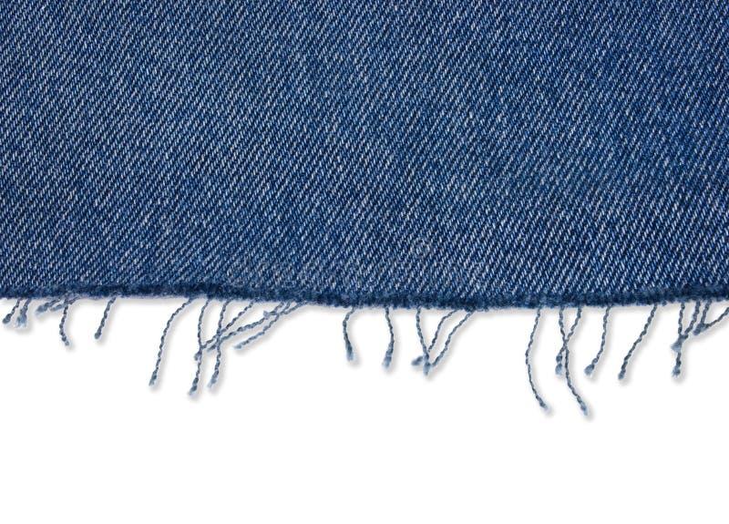 Partie de tissu de jeans avec la frange images libres de droits