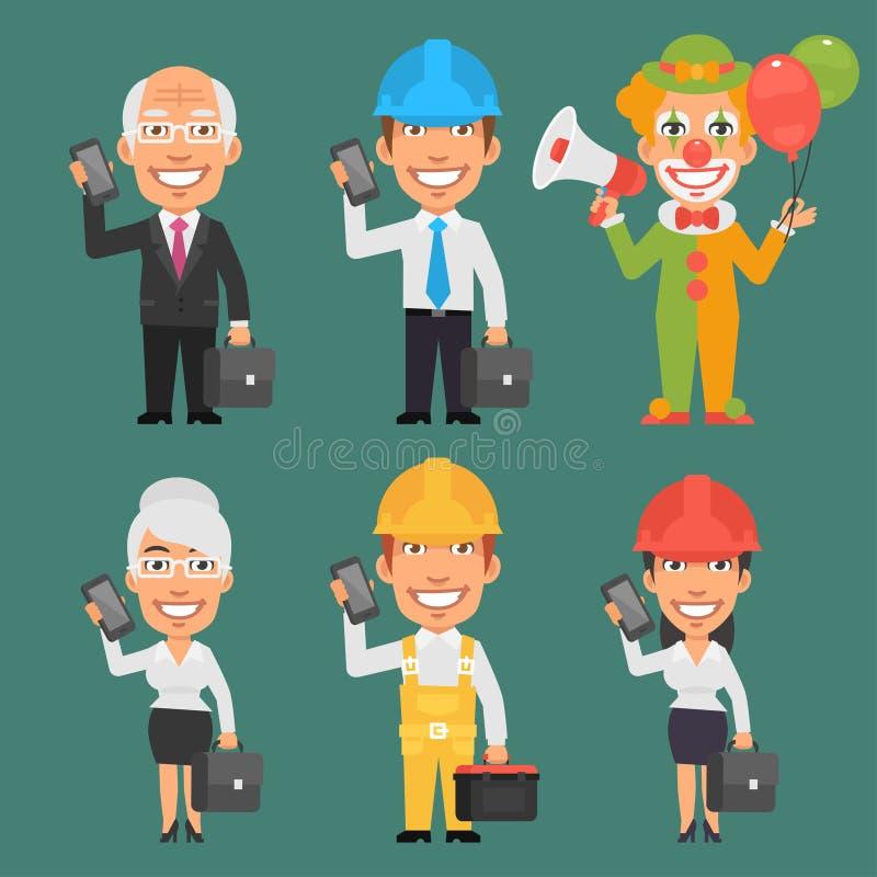 Partie différente 14 de professions de caractères illustration libre de droits