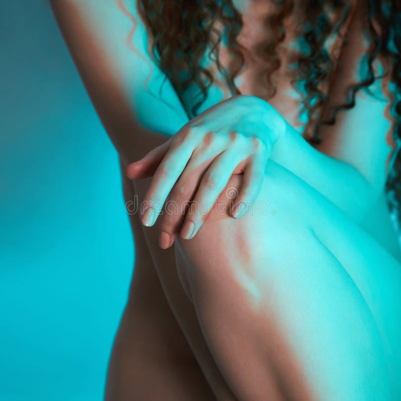 Partie du corps de femme nue photo stock