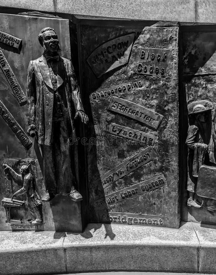Partie du monument d'histoire d'Afro-américain en raison de Carolina State House du sud photos stock