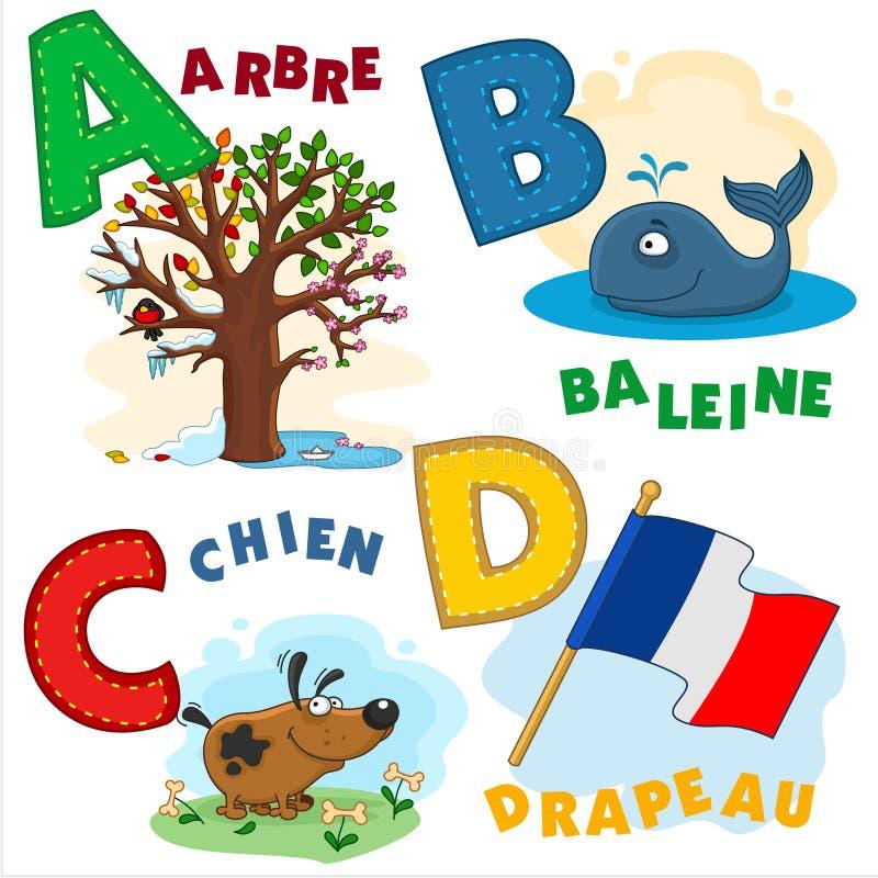 Partie française d'alphabet illustration libre de droits